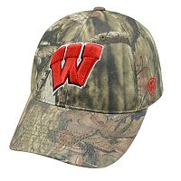 Adult Top of the World Wisconsin Badgers Resistance Mossy Oak Camouflage Adjustable Cap