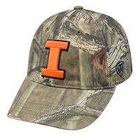 Adult Top of the World Illinois Fighting Illini Resistance Mossy Oak Camouflage Adjustable Cap