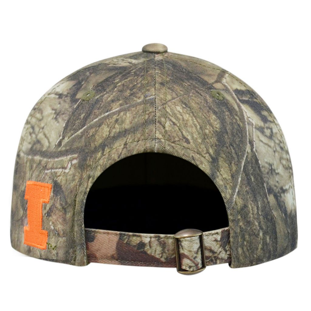 Adult Top of the World Illinois Fighting Illini Resistance Mossy Oak Camouflage Adjustable Cap
