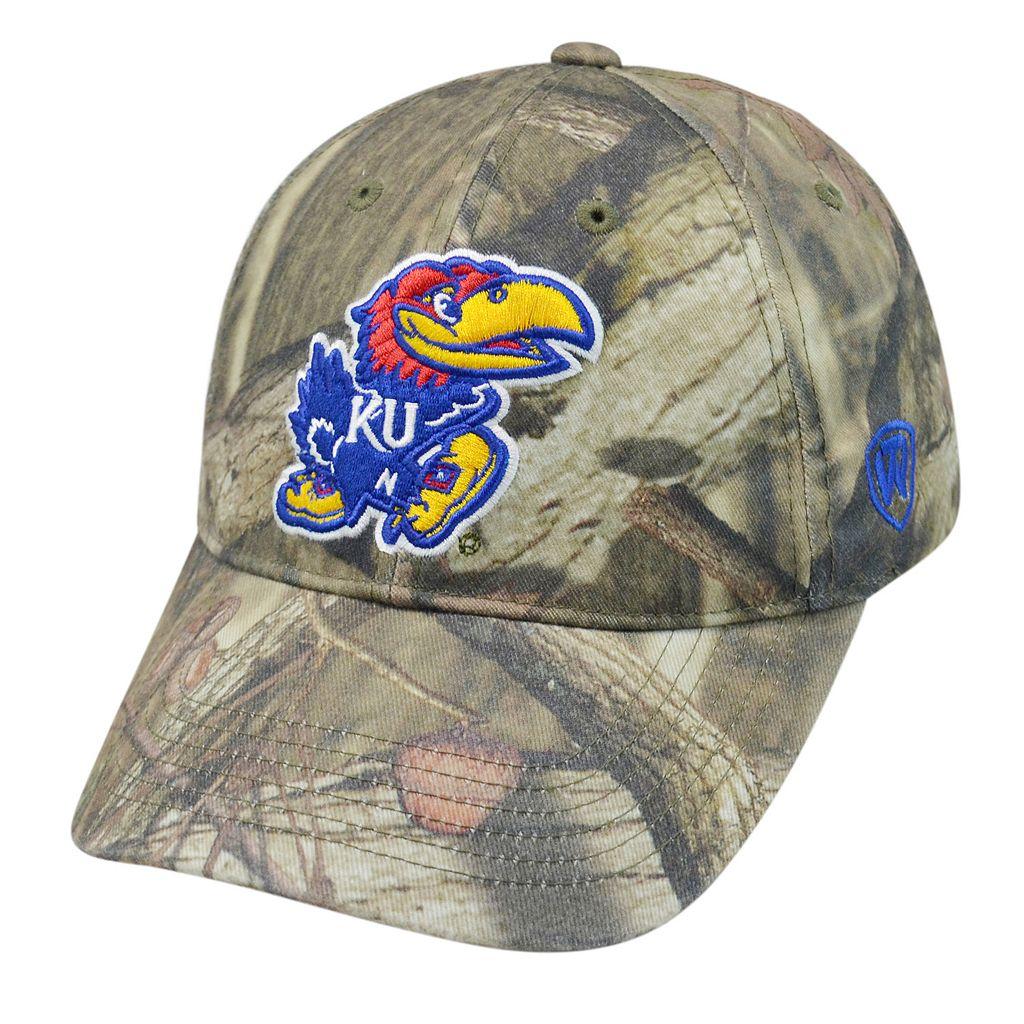 Top of the World Kansas Jayhawks Resistance Mossy Oak Camouflage Adjustable Cap - Adult