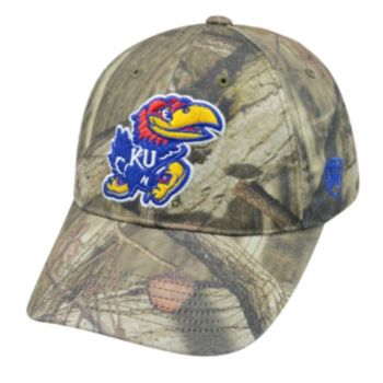 Top of the World Kansas Jayhawks Resistance Mossy Oak Camouflage Adjustable Cap - Adult