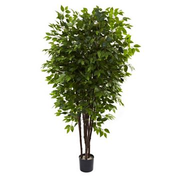 nearly natural 6 1/2-ft. Potted Deluxe Ficus Tree
