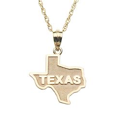 10k Gold 'Texas' Pendant