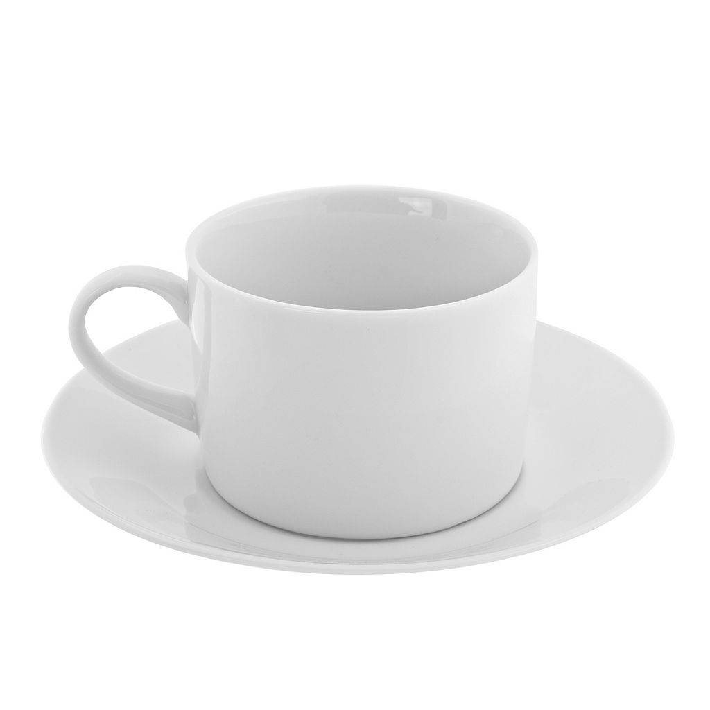 10 Strawberry Street Royal White 12-pc. Cup & Saucer Set