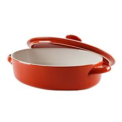10 Strawberry Street Sienna Red 1.75-qt. Covered Oval Baking Dish