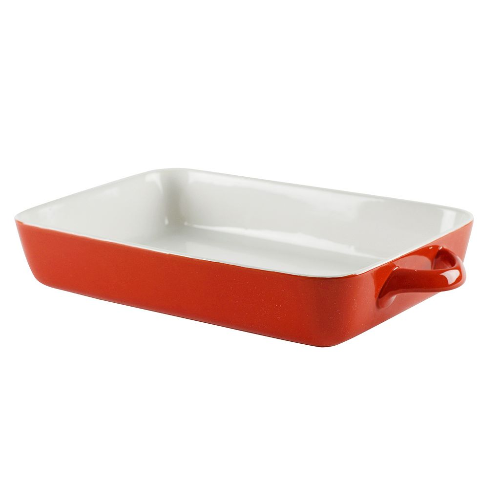 10 Strawberry Street Sienna Red 2-qt. Rectangular Baking Dish