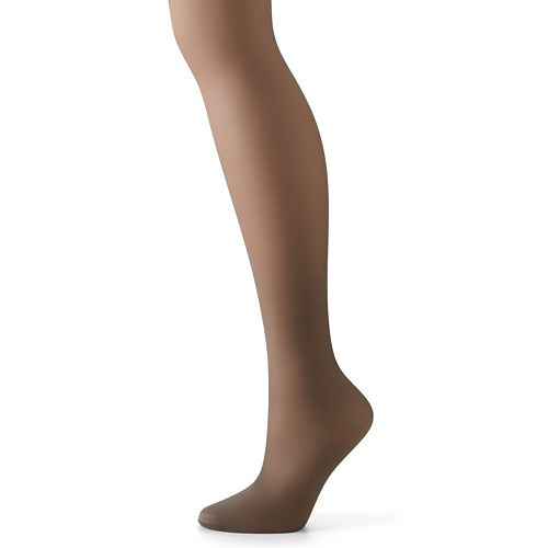 f07add481 Hanes Silk Reflections Lace-Top Thigh-High Pantyhose