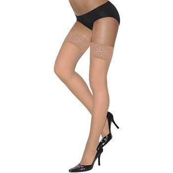 Hanes Silk Reflections Lace-Top Thigh-High Pantyhose c86b0ffb8
