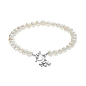 Dayna U Iowa Hawkeyes Sterling Silver Freshwater Cultured Pearl Toggle Bracelet