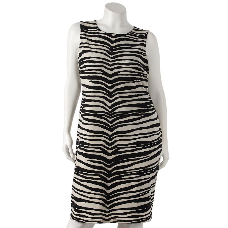 Jennifer Lopez Zebra Sheath Dress - Women's Plus