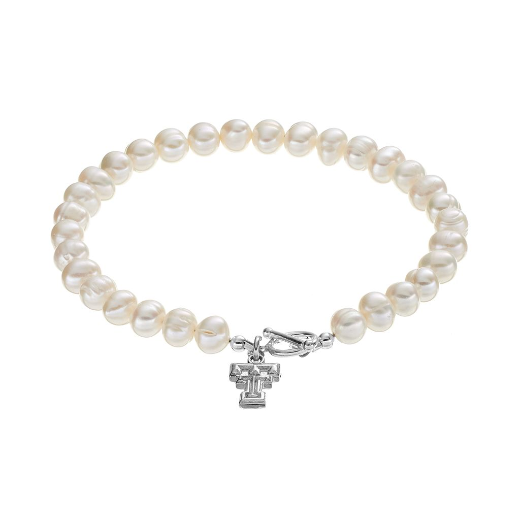 Dayna U Texas Tech Red Raiders Sterling Silver Freshwater Cultured Pearl Toggle Bracelet