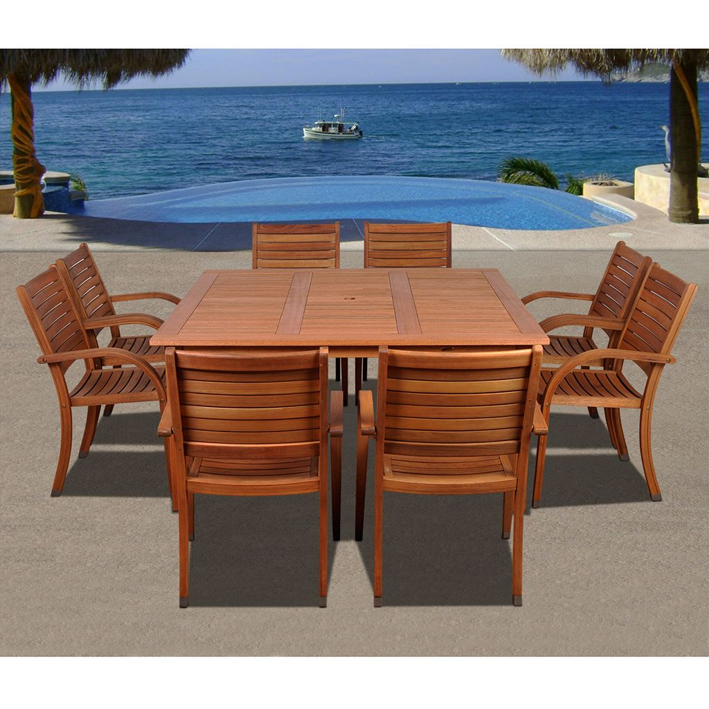Amazonia Douglas 9-pc. Dining Set - Outdoor