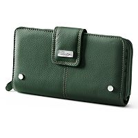 Buxton Westcott Leather Organizer Clutch Wallet