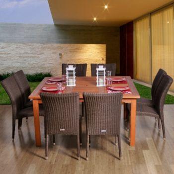 Amazonia Turin 9-pc. Dining Set - Outdoor