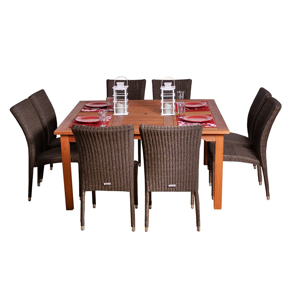 Amazonia Turin 9-pc. Dining Set - Outdoor