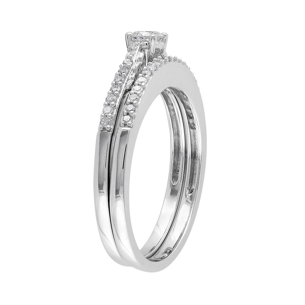 Diamond Engagement Ring Set in 10k White Gold (1/3 ct. T.W.)