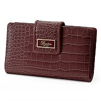 Buxton Everglades Crocodile Organizer Superwallet