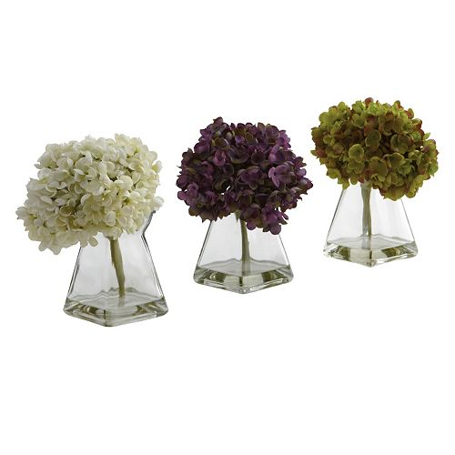 nearly natural 3-pc. Hydrangea Floral Arrangement Set