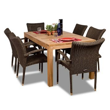 Amazonia Teak Belgium 7-pc. Dining Set - Outdoor