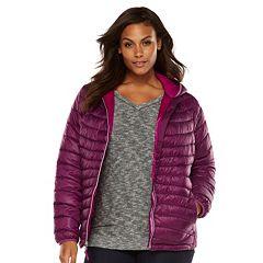 Plus Size Tek Gear¨ Hooded Packable Puffer Jacket