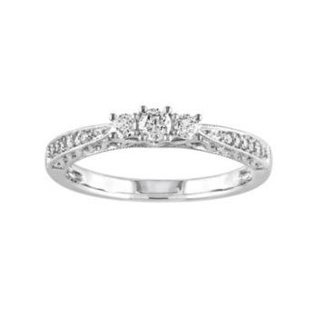 Stella Grace 10k White Gold 1/4-ct. T.W. Diamond Trellis Ring