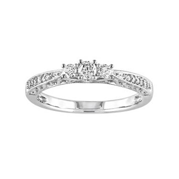 10k White Gold 1/4-ct. T.W. Diamond Trellis Ring