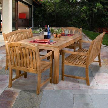 Amazonia Teak Faenza 5-pc. Dining Set - Outdoor