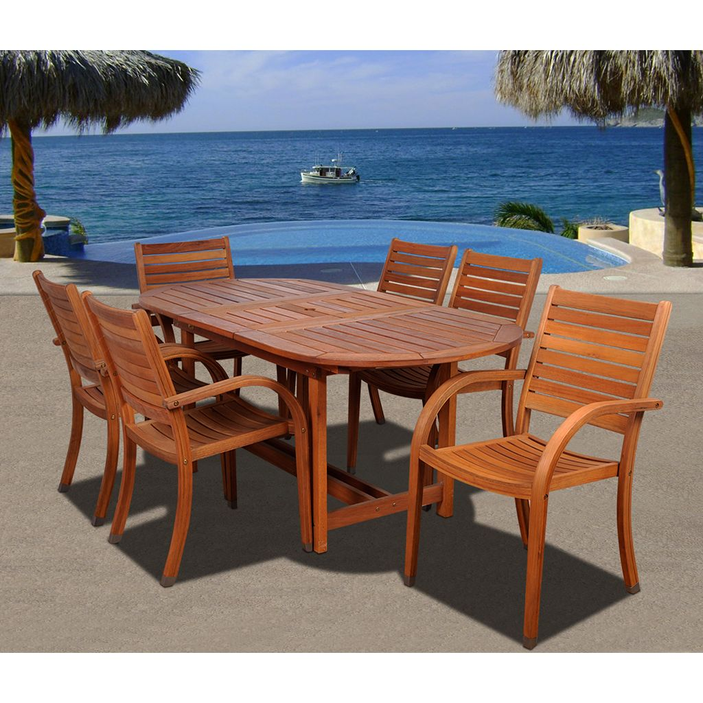 Amazonia Douglas 7-pc. Extendable Oval Dining Set - Outdoor