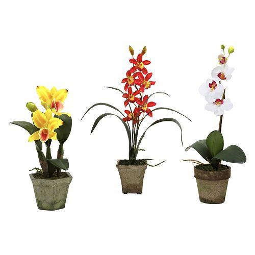 nearly natural 3-pc. Orchid Mix Arrangement Set