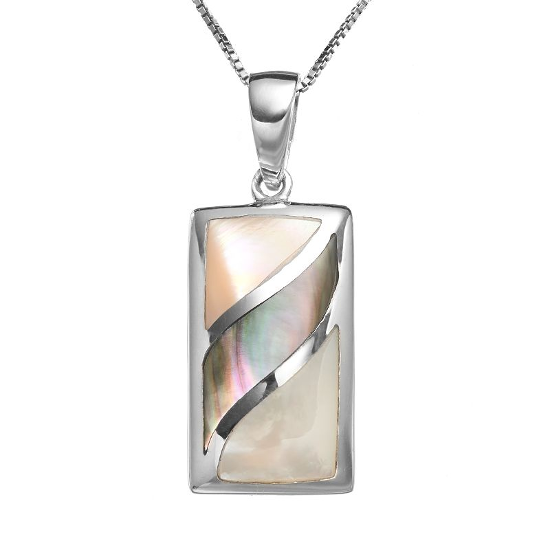 Sterling Silver Mother-of-Pearl Pendant
