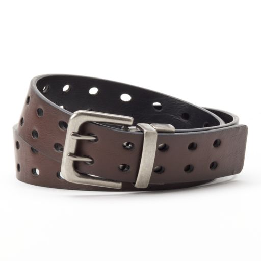 Levi's Perforated Reversible Faux-Leather Belt - Boys
