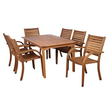 Amazonia Douglas 7-pc. Rectangular Dining Set - Outdoor