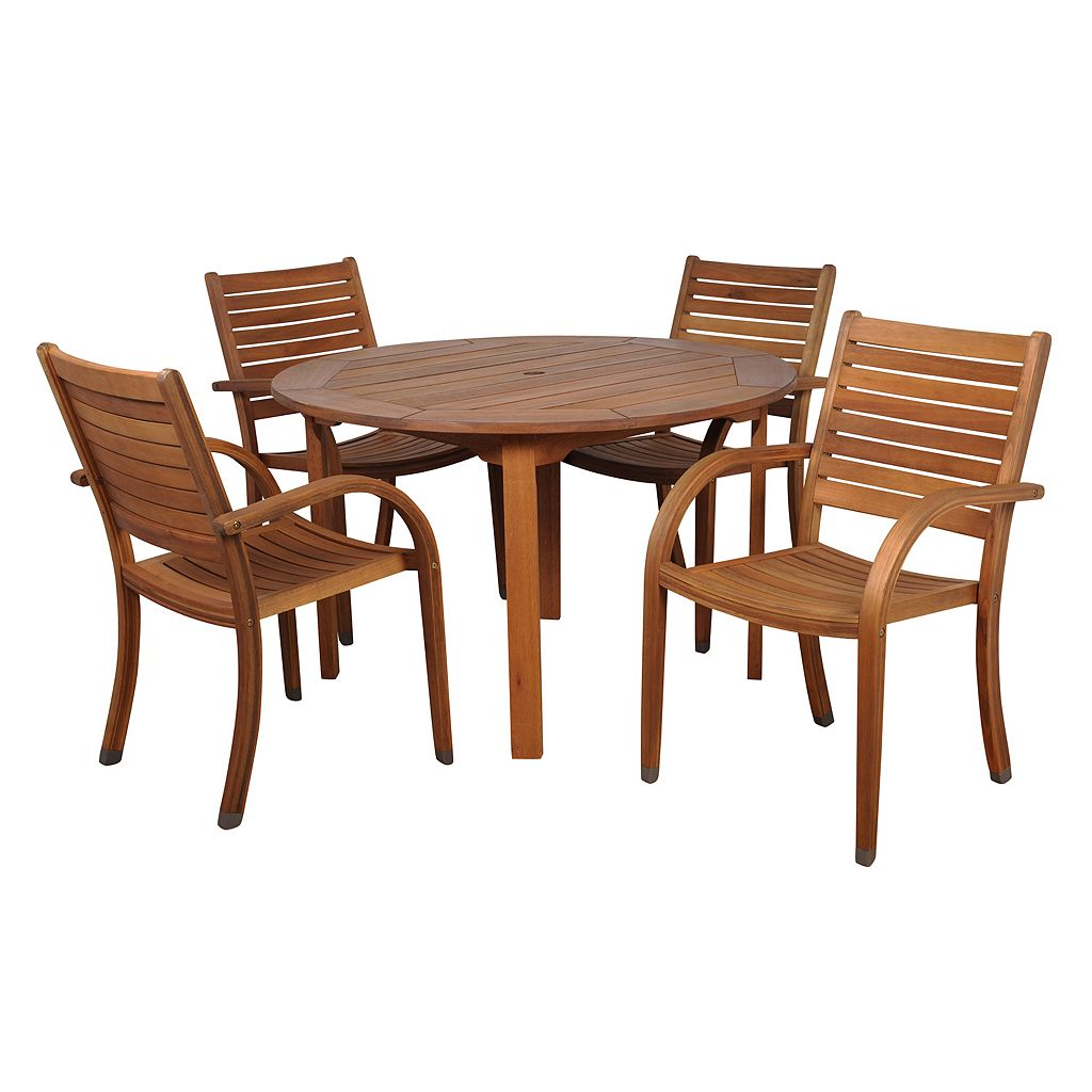 Amazonia Douglas 5-pc. Round Dining Set - Outdoor