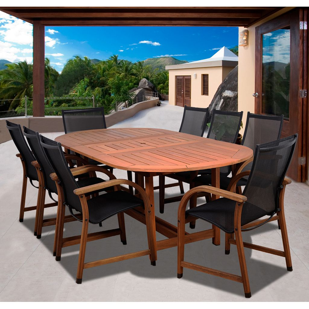 Amazonia Arthur 9-pc. Oval Extendable Dining Set - Outdoor