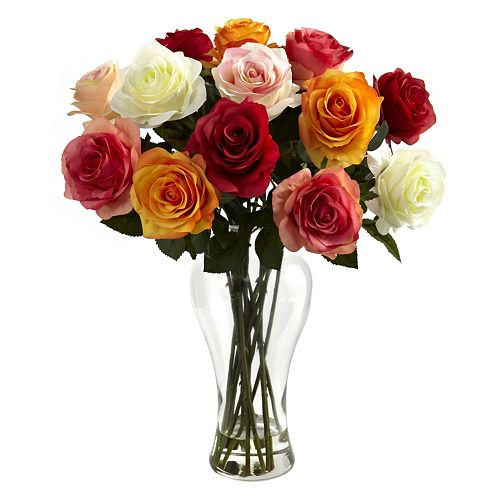 nearly natural Assorted Roses Arrangement