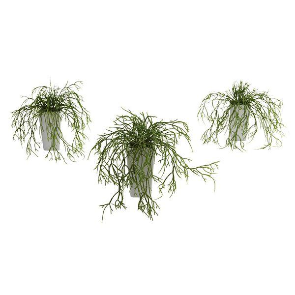 Nearly Natural 3 Pc Wild Grass Arrangement Set