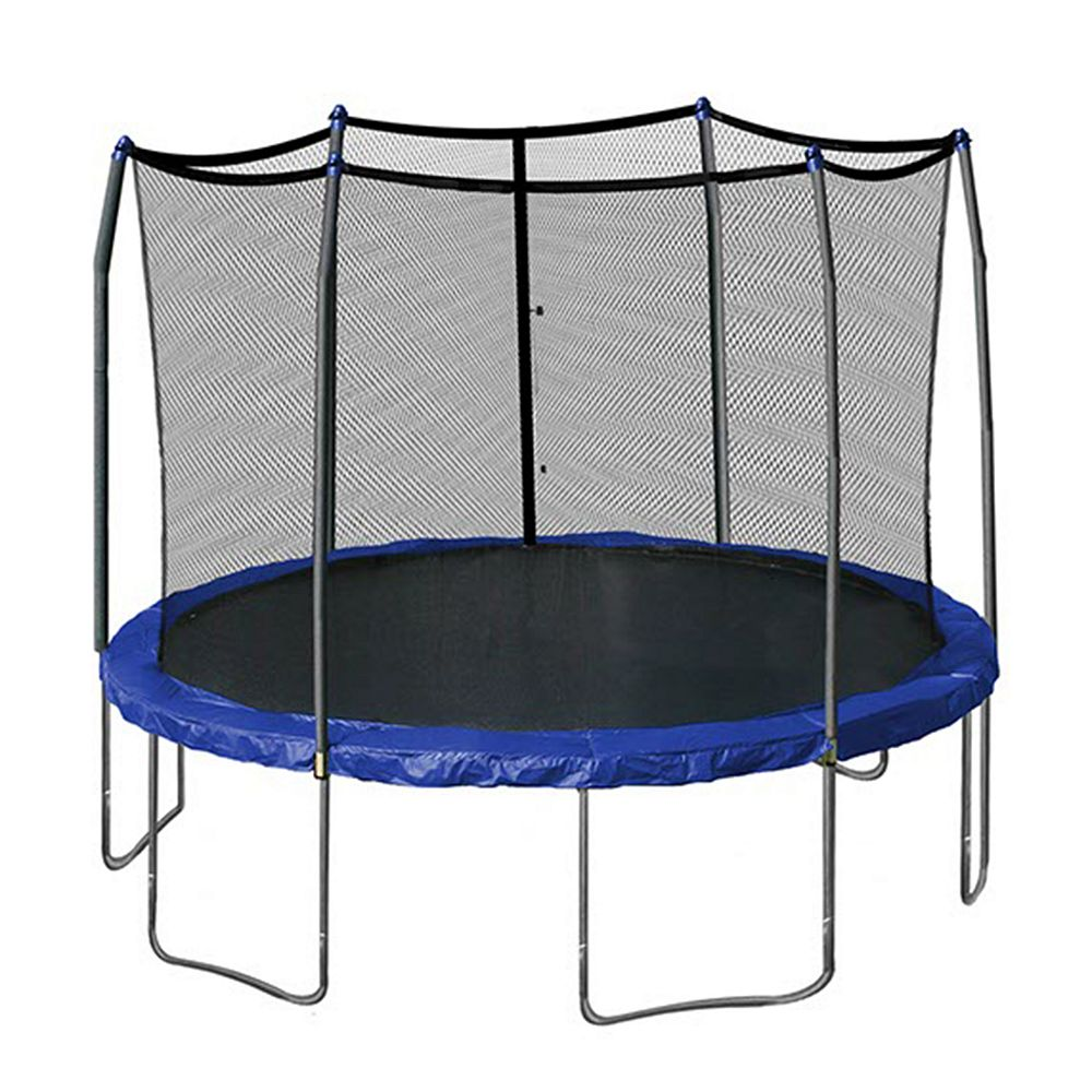 Game on closeouts sporting goods - Skywalker Trampolines 12 Ft Round Trampoline With Enclosure
