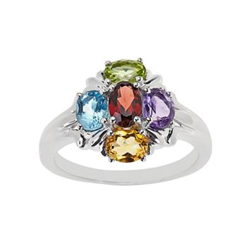 Sterling Silver Gemstone Ring