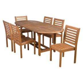 Amazonia Eucalyptus 7-pc. Extendable Oval Dining Set - Outdoor