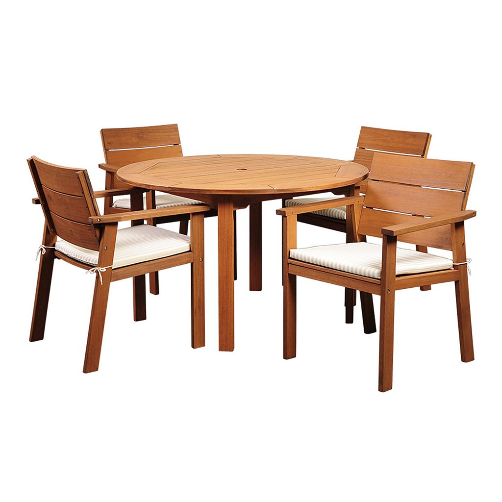 Amazonia Gregory 5-piece Round Dining Set - Outdoor