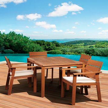 Amazonia Gregory 5-piece Rectangular Dining Set - Outdoor