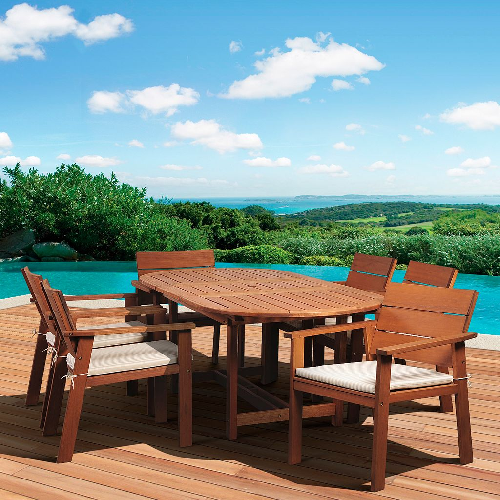Amazonia Gregory 7-piece Extendable Dining Set - Outdoor