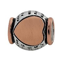 Individuality Beads Sterling Silver & 14k Rose Gold Over Silver
