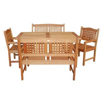 Amazonia Roma Porto 5-pc. Bench Dining Set - Outdoor