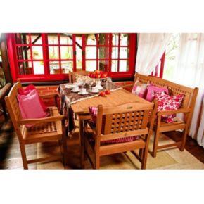 Amazonia Roma Porto 5-pc. Bench Dining Set - Outdoor