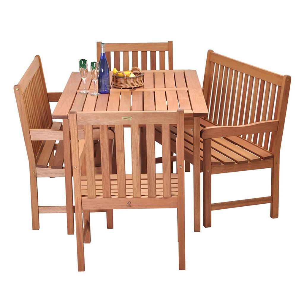 Amazonia Roma 5-pc. Bench Dining Set - Outdoor