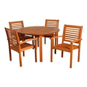 Amazonia Roma 5-pc. Round Dining Set - Outdoor