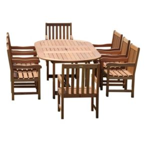 Amazonia Roma Grand Deluxe Extendable Dining Set - Outdoor