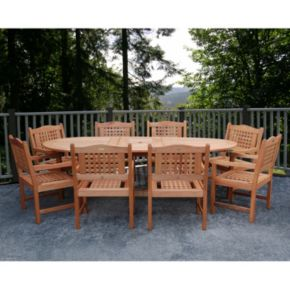 Amazonia Roma Grand 9-pc. Extendable Dining Set - Outdoor