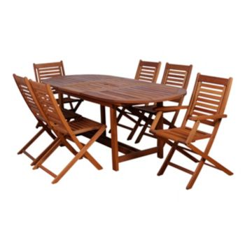 Amazonia Roma 7-pc. Extendable Oval Dining Set - Outdoor
